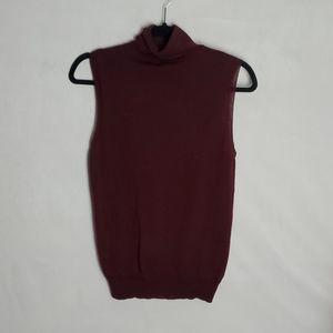 Theory Merino Wool Sleeveless Turtleneck Sweater